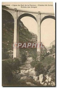 Old Postcard Line South of France Viaduct entrance wolf Gorges