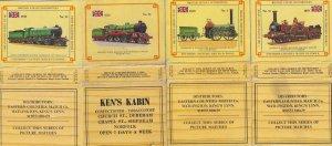 Kens Cabin Newsagents Kings Lynn Norfolk Train 4x Matchbox Label s