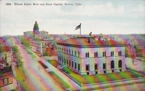 Colorado Denver United State Mint And State Capitol 1925