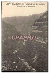 Postcard Old picturesque sites of Franche Comte Loue Valley Mouthier-Haute-Pi...