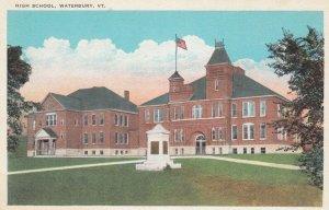 WATERBURY , Vermont , 1910s ; High School