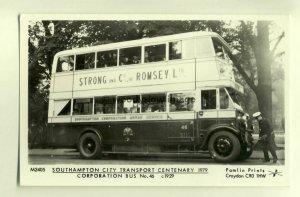 pp1232 -Southampton City Council Corporation Bus No 46. 1979 - Pamlin postcard