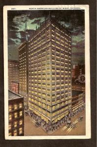 Postcard  - North American Building, Chicago, IL - Date 1919