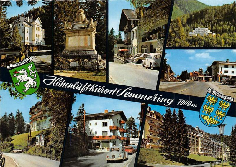 Semmering multiviews Gasthaus Pension Denkmal Auto Vintage Cars Panorama
