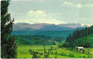 US Washington - Mt Rainier & Ohop Valley.  Used no postage. Beautiful.