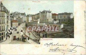 Postcard Old Grand Pont Lausanne