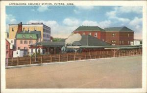 Putnam CT RR Train Station Depot Old Postcard