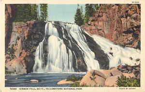 Linen of Gibbon Falls Yellowstone National Park Wyoming WY