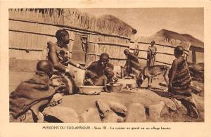 South Africa Missions du Sud-Afrique, La cuisine au grand air au village basuto