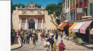 TOULON, Var, France, 1900-1910's; Porte Et Rue De L'Arsenal