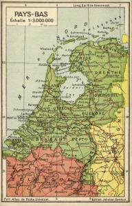 The Netherlands, Pays-Bas, Holland, Jeheber Map with Country Info (1910s)