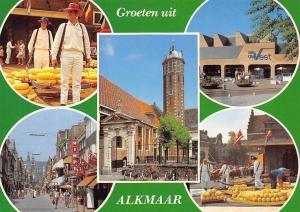 Netherlands Groeten uit Alkmaar Holland Tour Marche Cheese Market Promenade