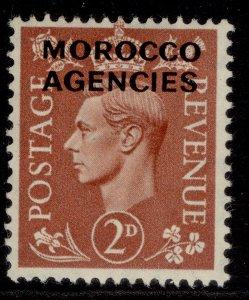 MOROCCO AGENCIES GVI SG97, 2d pale red-brown, M MINT.
