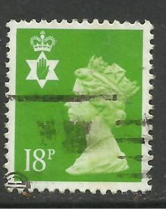 Northern Ireland GB 1992 QE2 18p Bright Green 14 perf SG NI 47a. ( H472