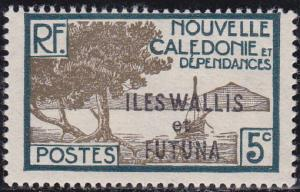 Wallis and Futuna Islands 1930 SC #47 Bay of Paletuviers Point 5c Unused OG.