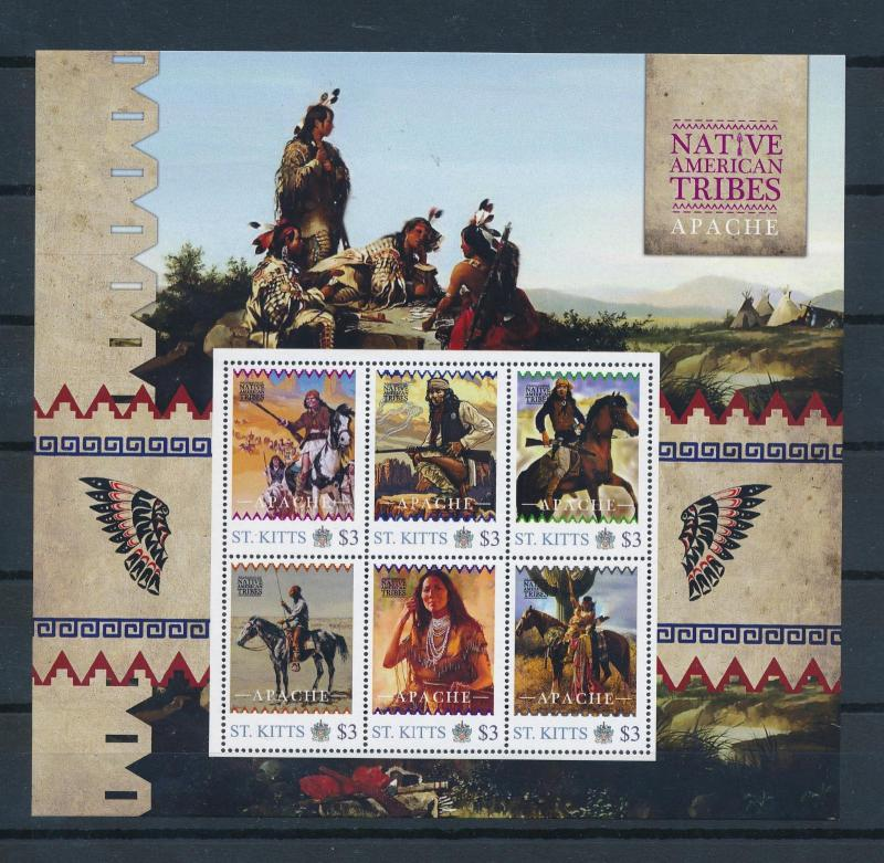 [80930] St. Kitts 2011 Native Americans Indians Apache Sheet MNH
