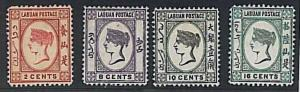 STAMP ----  LABUAN : Stanley Gibbons SG # 30/33  VLH - VERY GOOD CENTERING