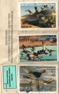 2004 USA Duck Stamp #RW71 + States Used California Resident Hunting License