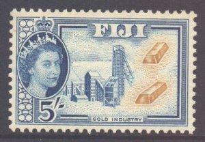 Fiji Scott 160 - SG293, 1954 Elizabeth II 5/- MH*
