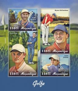 MOZAMBIQUE - 2019 - Golf - Perf 4v Sheet - MNH