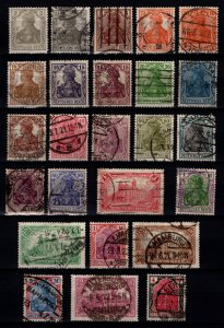 Germany 19016 Empire Definitives (inscr. 'DEUTSCHES REICH') Set [Used]