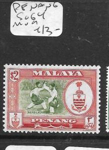 MALAYA  PENANG  (PP2505B) ARMS $2.00 SG 54   MOG