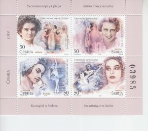 2019 Serbia Dance MS4 in Folder  (Scott NA) MNH