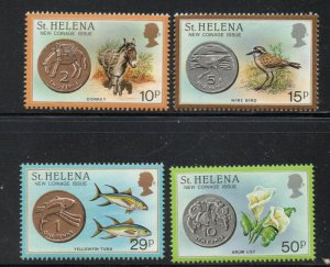 St Helena Sc 416-19 1984 New Coins stamp set mint NH