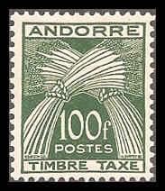 French Andorra J41 Mint VF XLH