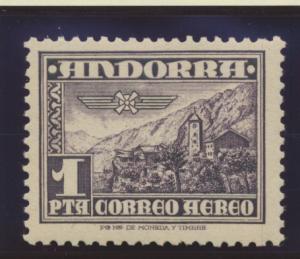 Andorra (Spanish Administration) Stamp Scott #C1, Mint Lightly Hinged - Free ...