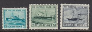 Belgium 368-70 Steamship mint
