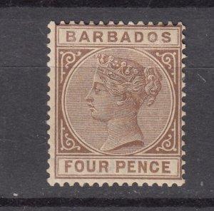 J26633 1882-5 barbados mh #65 victoria wmk 2