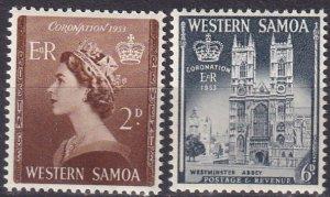 Samoa #214-5 MNH CV $2.50  (Z6938)