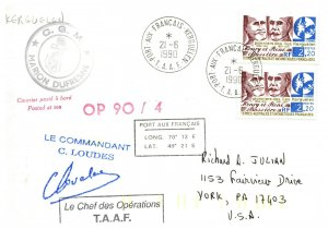 1990 French Southern & Antarctic Territory, Antarctic Cachet and/or Cancel  #112