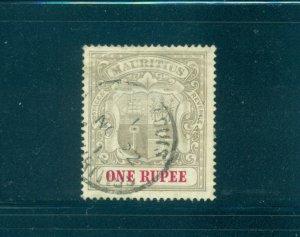 Mauritius - Sc# 124. 1902 1 Rupee Used. $60.00.