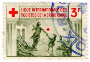 (I.B) France Cinderella : Red Cross Fund-Raising Stamp 3F