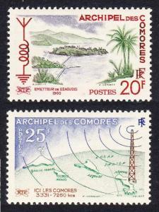 Comoro Is. Broadcasting Service 2v SG#21-22 SC#46-47 MI#40-41