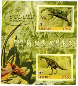 Liberia 2005 DINOSAURS Sheet Perforated Mint (NH)