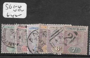 LEEWARD  ISLANDS  (PP0710B) QV SG 1-6   VFU