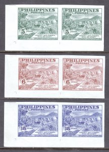 Philippines - Scott #554a-556a - MNH - Patchy gum, gum bumps - SCV $6.55