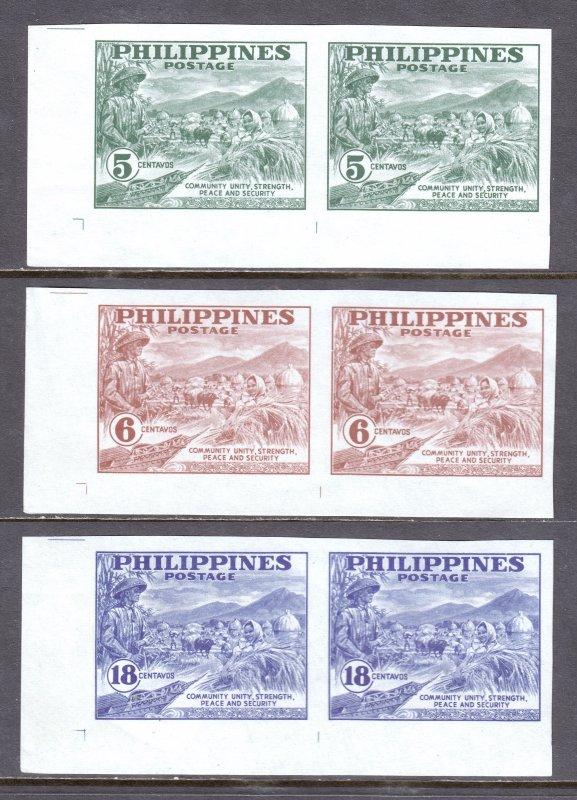Philippines - Scott #554a-556a - MNH - Patchy gum, gum bumps - SCV $6.55