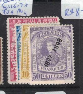 Ecuador SC 115-7 + 50c MOG (9dvs)