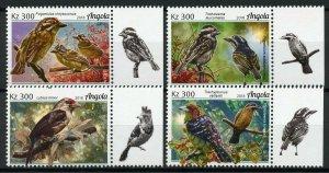 Angola Birds on Stamps 2018 MNH Barbets Barbet Bird Fauna 4v Set