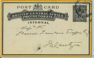 bk0216  - British Central Africa - POSTAL STATIONERY  Very RARE  local use