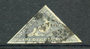 CAPE OF GOOD HOPE-1862 6d Slate Lilac.  A fine used 3 margin example Sg 7c