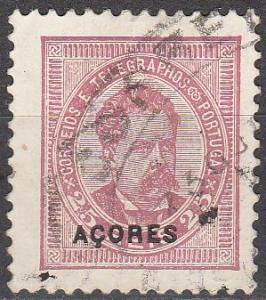 Azores #63  F-VF  Used CV $3.00 (A16352)