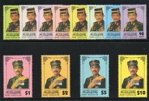 Brunei 1966 set complete superb MNH. SG 563-574. Sc 504-515.