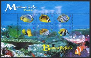 BIOT Butterflyfish Marine Life 2nd series MS SG#MS354