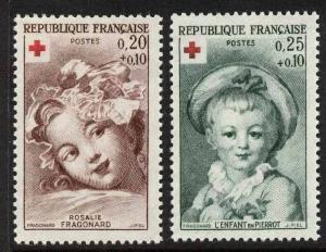France B365-6 MNH Art, Red Cross, Rosale Fragonard