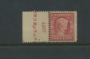Scott #369 Lincoln Bluish Paper Mint Plate # Stamp NH (Stock #369-6)